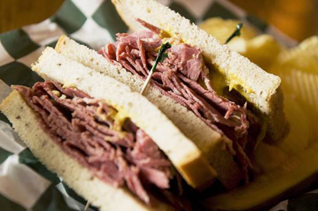 corned beef sandwich lunch special